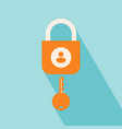 user security icon vector image