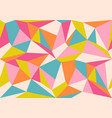 vintage geometric polygon pattern vector image