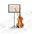 violin instrument with music sheet concept music vector image vector image