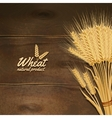 Wheat On Wooden Table vector image vector image