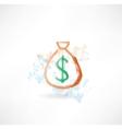 bag of money grunge icon vector image