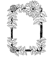 daisies and leaves frame vector image