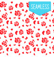 simple pattern with red flowers vector image