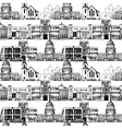 Seamless background with government buildings vector image