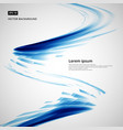 abstract blue lines storm whirl curve circle vector image vector image