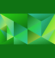 abstract geometric green gradient triangle mosaic vector image vector image