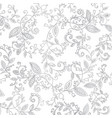 abstract hand drawn silver pattern vector image vector image