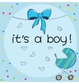 Baby card - Its a boy theme vector image vector image