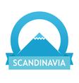 Badge with Scandinavian Landscape vector image vector image