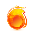 ball fire logo vector image