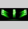 bright green stadium arena lighting spotlight vector image vector image