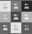 car key simplistic sign grayscale version vector image vector image