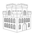 castle outline drawing of a building with vector image