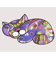 cat in ethnic style 2 vector image vector image