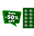 chat paper layer color green collection off vector image