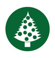 christmas tree decorative icon vector image