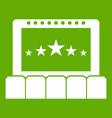 cinema icon green vector image vector image