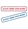 Click Here For More Rubber Stamps vector image vector image