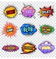 Comic Noise Effects Set vector image