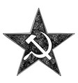 Communist star symbol with hammer and sickle