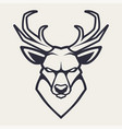 deer mascot icon vector image vector image