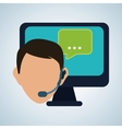 design of call center editable vector image vector image