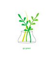 ecological green concept vector image