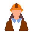 female engineer worker icon woman worker cartoon vector image