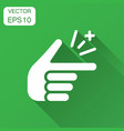 finger snap icon in flat style fingers expression vector image vector image