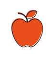 fresh fruit apple food market icon vector image vector image