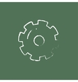Gear icon drawn in chalk vector image vector image