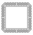 geometric frame square decoration template design vector image