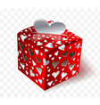 gift on valentin day transparent effects vector image