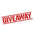 giveaway stamp vector image vector image