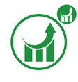 Graph growth graphics simple single color icon vector image