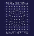greeting card for christmas and new year holiday vector image vector image