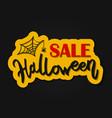 happy halloween message design background vector image vector image