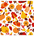 happy thanksgiving day seamless pattern with vector image vector image