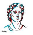 helios portrait vector image vector image