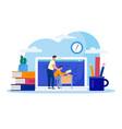 home education online boy vector image vector image