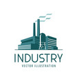 industry logo or icon factory industrial vector image