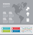 infographic american continent vector image