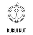kukui nut icon outline style vector image