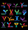 letter y corporate identity premium color design vector image vector image