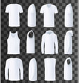 male top clothes template and mockup vector image vector image