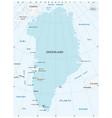 map autonomous state greenland vector image