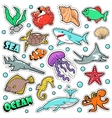 Marine Life Badges Patches Stickers vector image vector image