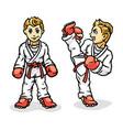 martial art colored simbol logo karate creative vector image