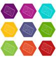 navigator icons set 9 vector image
