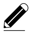 pencil and line icon vector image vector image